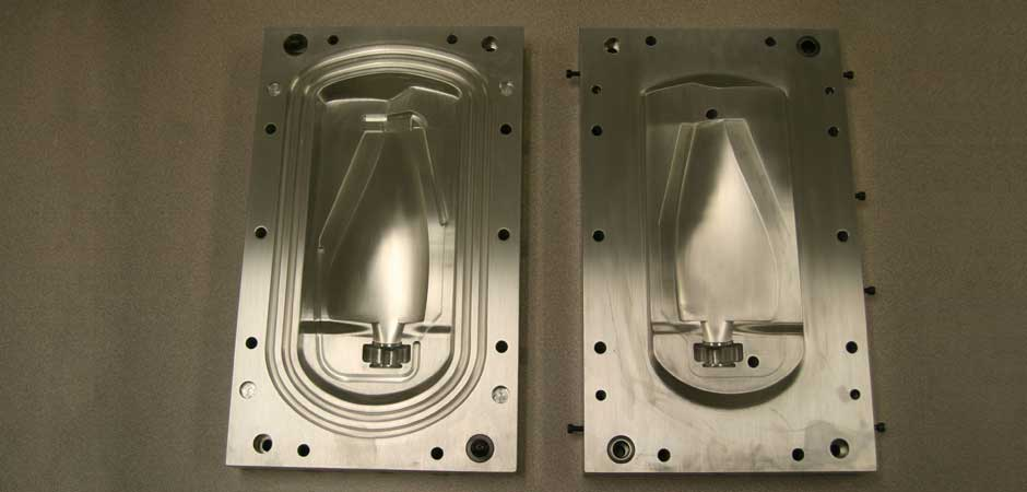 A custom mold is designed and machined to produce the desired blade shape. While the mold is generally made from aluminum, research is being done into alternative high-speed, low-cost tooling options such as epoxy. The blade lay-up is then introduced into the Resin Transfer Molding procedure where the carbon fiber and fiberglass braids are bonded together.  Other parts crucial to the assembly are also acquired or machined as necessary.